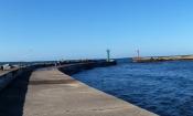 Panorama portu od strony morza