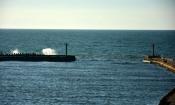 widok z latarni na morze