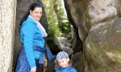 spacer po lesie ( szlak na białe skały )