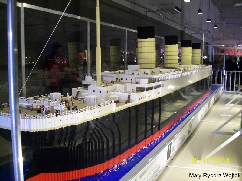 Wystawa klocków Lego - Titanic